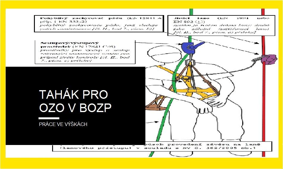 """(Čeština) Tahák pro OZO v BOZP, potkají-li """"výškaře"""""""
