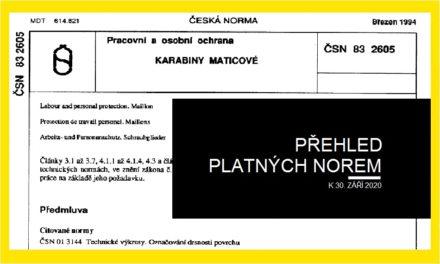 (Čeština) Přehled platných norem (k 30. 9. 2020)