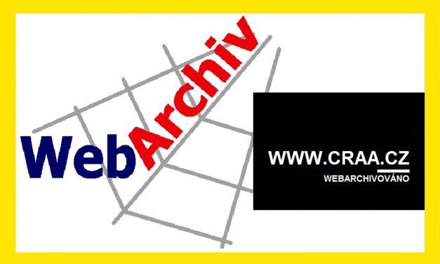 (Čeština) Webarchivace craa.cz