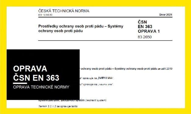 (Čeština) Oprava ČSN EN 363 ze září 2019