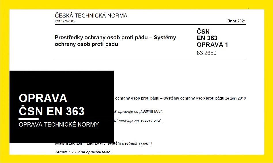 Oprava ČSN EN 363 ze září 2019