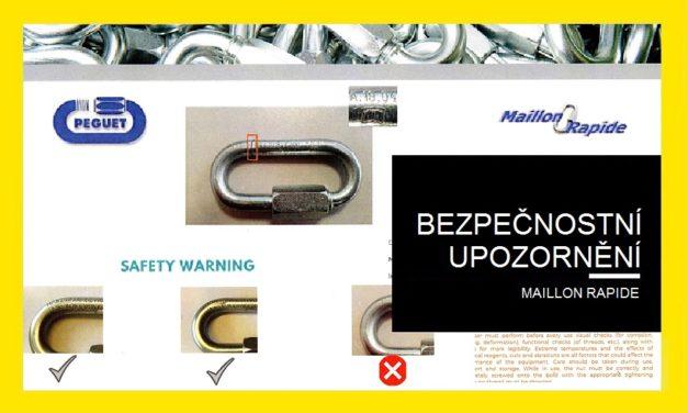 Bezpečnostní upozornění – Maillone Rapide